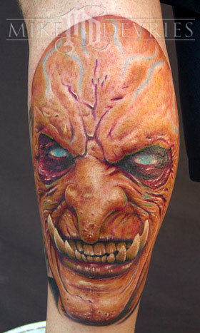 Tattoos - Evil Face Tattoo - 12667